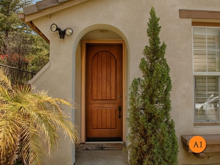 A1-front-entry-door-rustic-dutch-single-36x96-8-foot-tall-fiberglass-therma-tru-Classic-Craft-ccr8225-rustic-wood-stained-walnut-lader