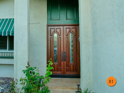 81-8-tall-jeld-wen-a225-mahogany-skin-fiberglass-double-entry-doors-2-30x96-stained-antique-caramel-r-glass-dark-patina-caming-seal-be