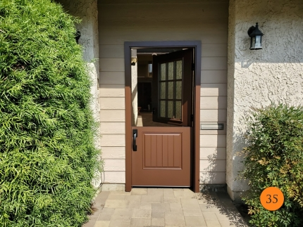 35-therma-tru-s6042xr-fiberglass-dutch-entry-door-36x80-9-lite-sdl-rain-privacy-glass-smooth-skin-factory-painted-earthen-installed-in-long-beach-ca