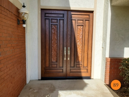 89-jeld-wen-aurora-a302-fiberglass-double-entry-door-with-carvings-oak-grain-factory-stained-chappo-with-antiquing-installed-in-san-dimas-ca