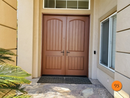 95-72x96-thermatru-ccr8205-fiberglass-double-entry-door-rustic-grain-factory-painted-rugged-multipoint-hardware-in-bronze-installed-in-fullerton-ca