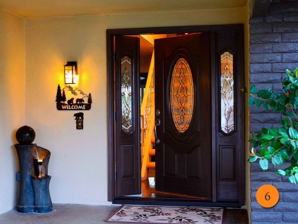 6-front-entry-door-classic-traditional-single-36x80-2-sidelights-fiberglass-plastpro-drm3d-mahogany-stained-walnut-brentwood-glass-pat