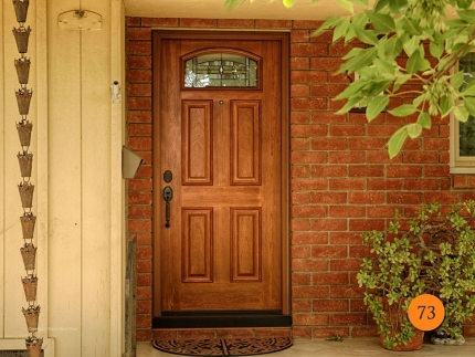 73-front-entry-door-classic-traditional-single-36x80-fiberglass-provia-Signet-419-cherry-stained-american-cherry-tranquility-glass-pat