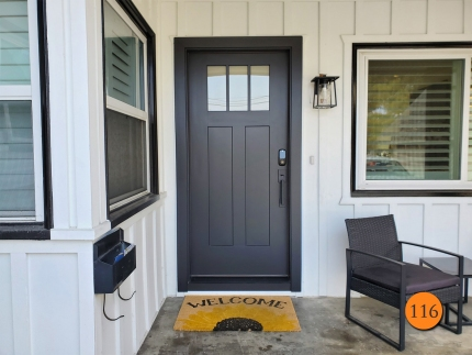 116-craftsman-36x80-therma-tru-s4813xe-fiberglass-entry-door-3-lite-sdl-with-satin-etch-privacy-glass-smooth-skin-factory-painted-inkwell-installed-in-seal-beach-ca