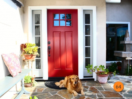64-front-entry-door-craftsman-single-36x80-2-sidelights-fiberglass-therma-tru-s608sdl-smooth-painted-cordovan-red-6-lite-clear-glass-m