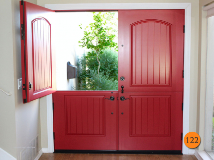122-front-entry-door-classic-traditional-dutch-double-2-36x80-72-inch-wide-fiberglass-plastpro-drs2g-smooth-painted-scarlet-past-huntington-beach-ca-scarborough