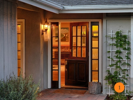1-front-entry-door-classic-traditional-dutch-single-2-sidelights-fiberglass-jeld-wen-aurora-a5944-mahogany-stained-sable-9-lite-clear-glass-laguna-beach-ca-ford