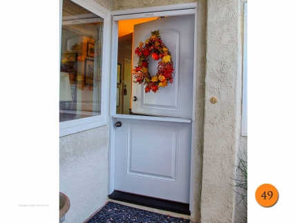 49-front-entry-door-dutch-shelf-single-36x80-36-inch-wide-fiberglass-plastpro-drs2d-smooth-painted-white-clearview-screen-retractable-white-anaheim-hills-ca-alexander