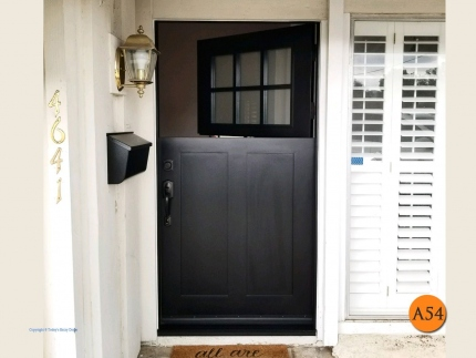 A54-42x80-craftsman-dutch-front-door-mahogany-painted-black-marshall-1