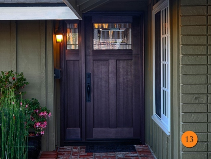 13-front-entry-door-craftsman-single-36x80-1-sidelights-fiberglass-plastpro-drf3c-fir-stained-brown-mahogany-top-lite-solstice-glass-p