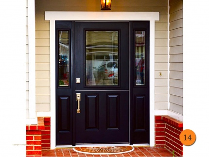 14-front-entry-door-dutch-single-36x80-2-sidelights-fiberglass-plastpro-drs41-smooth-painted-black-half-lite-clear-glass-costa-mesa-ca
