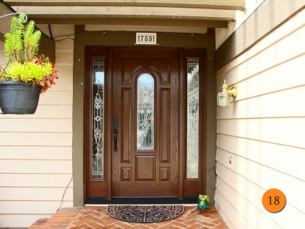 18-traditional-single-36x80-entry-door-with-2-sidelights-fiberglass-plastpro-drg80-antique-oak-brentwood-glass-zinc-caming-anaheim-hil