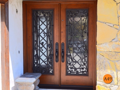 A49-wrought-iron-doors-decorative-grille-double-entry-doors-huntington-beach-delisi