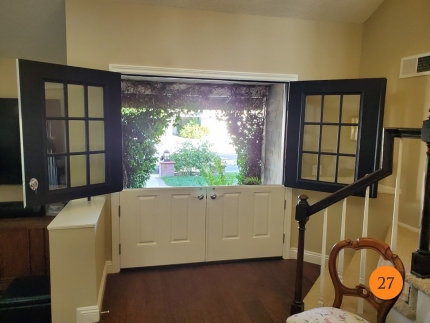 27-72x80-masonite-fiberglass-double-dutch-entry-door-9-lite-sdl-with-clear-glass-smooth-skin-factory-painted-black-exterior-white-interior-installed-in-laguna-niguel-ca