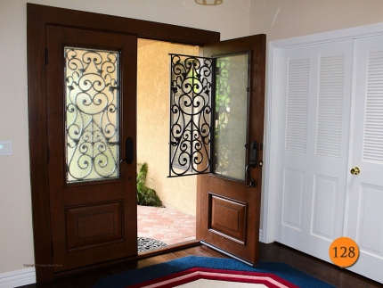 128-wrought-iron-doors-double-30x80-rustic-fiberglass-knotty-alder-laguna-hills-loveless