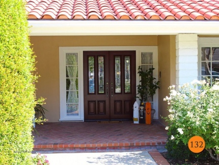 132-double-entry-doors-3-4-glass-twin-lite-2-30x80-jeld-wen-a110-mahogany-stained-cherry-antiqued-q-glass-dark-patina-caming-anaheim-h