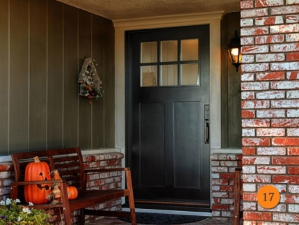17-front-entry-door-craftsman-single-42x80-42-inch-wide-fiberglass-jeld-wen-a362-smooth-painted-black-6-lite-frosted-glass-fullerton-c