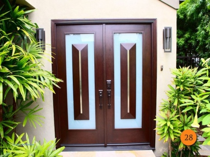 28-front-entry-door-modern-contemporary-double-2-30x80-5-foot-wide-fiberglass-jeld-wen-a21m-mahagony-stained-sable-frosted-glass-capis