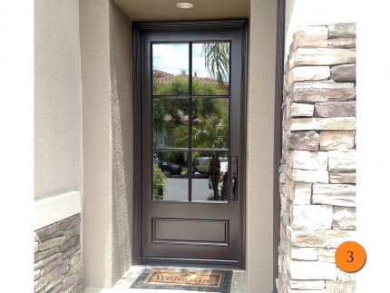 3-42-x-96-jeld-wen-aurora-a5506-fiberglass-entry-door-insulated-clear-glass-with-6-lite-sdl-installed-in-san-clemente-ca