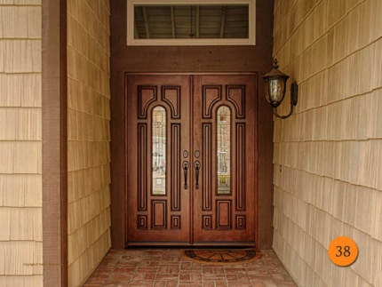 38-front-entry-door-classic-traditional-double-2-30x80-5-foot-wide-fiberglass-jeld-wen-a225-mahogany-stained-caramel-antiqued-q-glass-