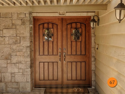 67-rustic-double-entry-door-2-32x80-fiberglass-jeld-wen-estate-collection-a1322-mahogany-stained-chappo-antiqued-speakeasy-wrought-iro