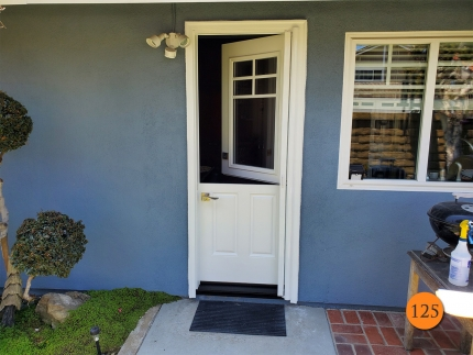 125-30x80-masonite-fiberglass-dutch-side-entry-door-5-lite-sdl-with-clear-glass-smooth-skin-factory-painted-white-clearview-retractable-screen-installed-in-huntington-beach-ca