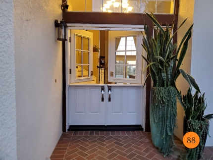 88-60x80-masonite-fiberglass-double-dutch-entry-door-6-lite-sdl-with-clear-glass-smooth-skin-factory-painted-white-clearview-top-down-retractable-screen-in-trabuco-canyon-ca