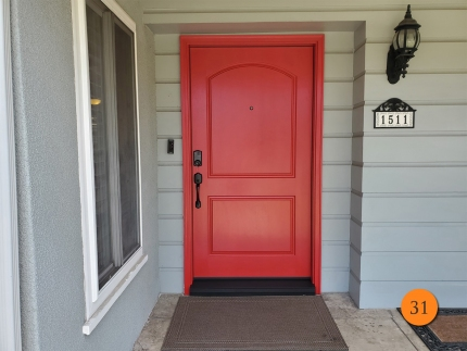 31-42x80-plastpro-fiberglass-entry-door-rustic-textured-skin-factory-painted-heartthrob-installed-in-santa-ana-ca