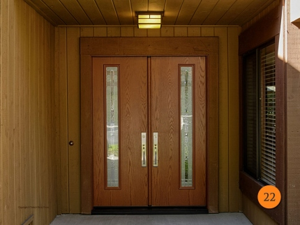 22-front-entry-door-modern-contemporary-double-2-30x80-5-foot-wide-fiberglass-therma-tru-Linea-fco1fw-oak-stained-cherry-maple-park-gl