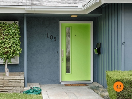42-front-entry-door-modern-contemporary-single-42x80-42-inch-wide-fiberglass-therma-tru-Pulse-s1lxc-smooth-painted-green-chord-glass-u