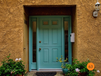 63-front-entry-door-dutch-single-36x80-2-sidelights-fiberglass-therma-tru-5296xc-smooth-Painted-surf-blue-green-2-lite-chord-glass-hun