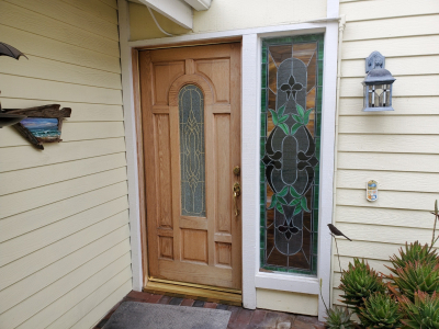Wood entry door 3 before replaced by today's entry doors