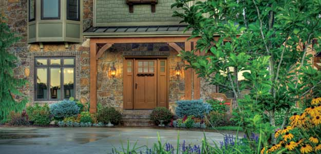 Beautiful Wood Entry Door on Home in Aliso Viejo