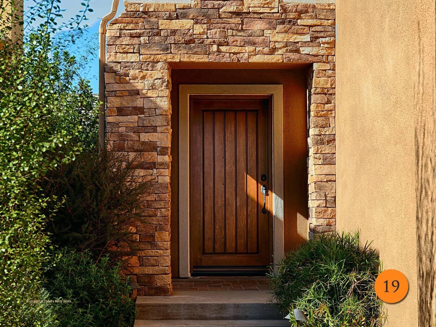 charming rustic entry door