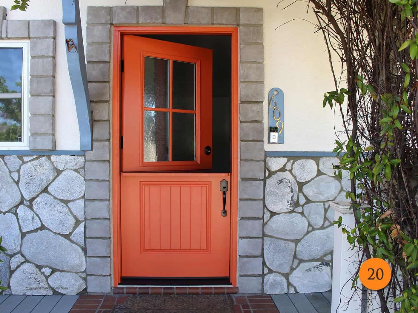 20-front-entry-door-classic-traditional-dutch-shelf-single-36x80-fiberglass-plastpro-drs2g-smooth-painted-citrus-notes-4-lite-sea-spray-glass-orange-ca-borgen