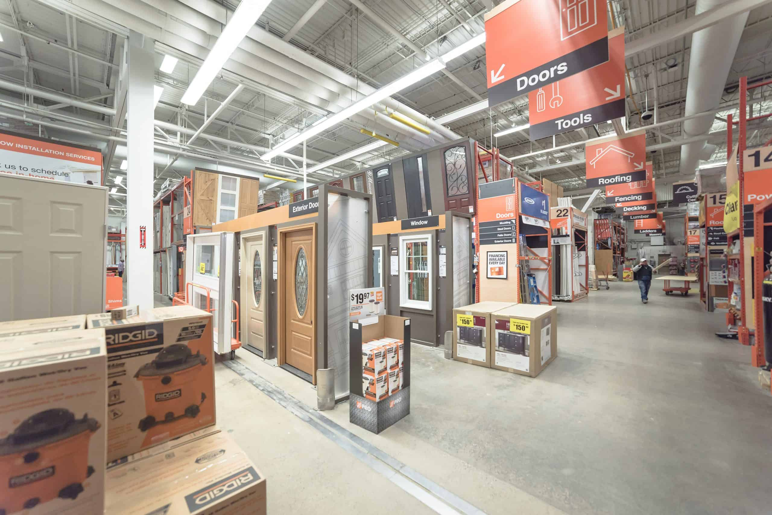 The Door Aisle at Home Depot