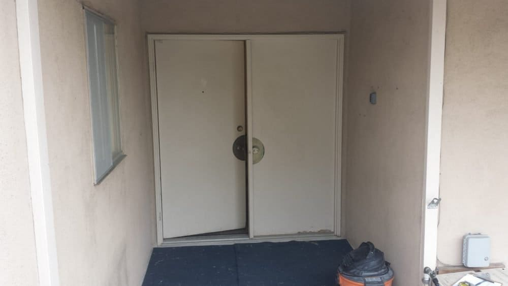 fake door before replacement by today's entry doors