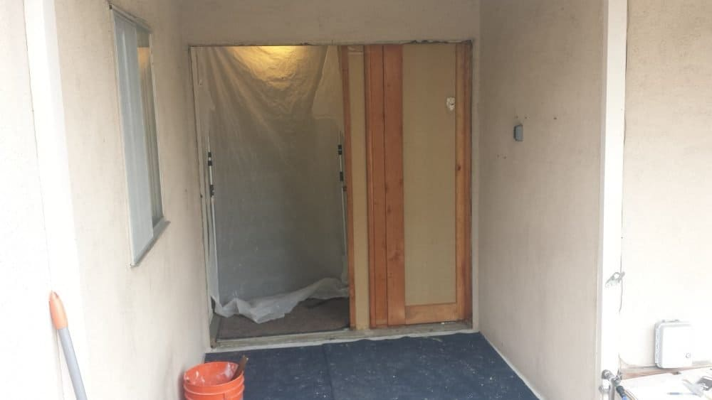 fake door during replacement by today's entry doors