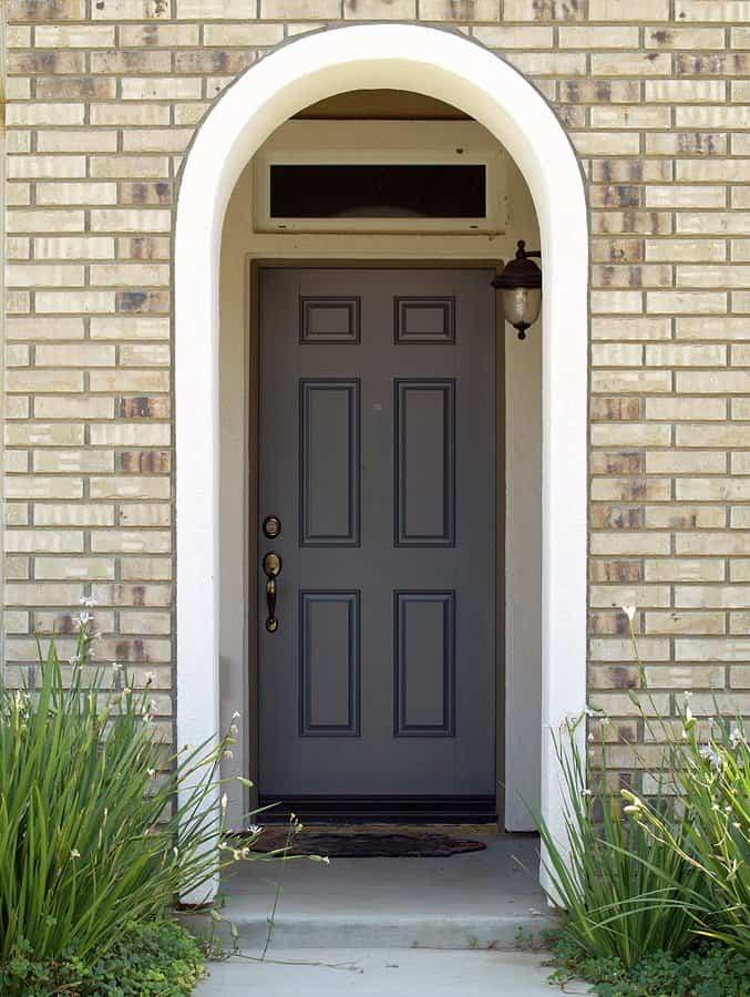 Fiberglass Front Door View From Walkway