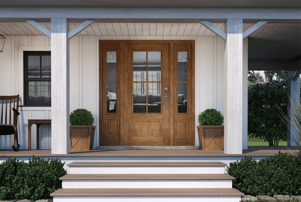 Beautiful ROI component Multifaceted entry door