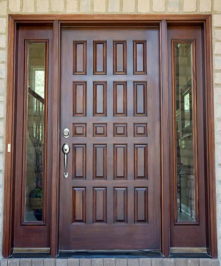 Large Wooden Front Entry Door