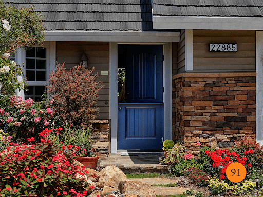 entry door with beautiful curb appeal