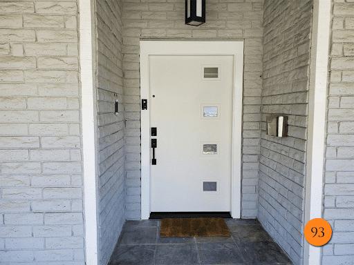nice white door that is very secure
