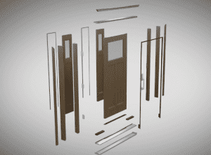 illustration of door components that make it the most durable option