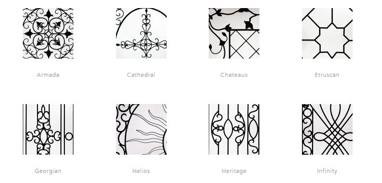 comparison of wrought iron grille styles