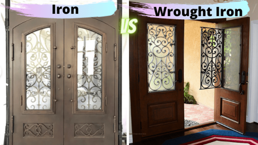 wrought iron vs iron entry doors