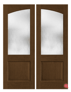 Classic Craft Founders Collection in Mahogany Grain With Privacy Glass