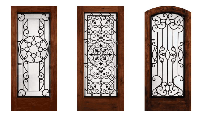 Examples of decorative privacy doors by Jeld Wen
