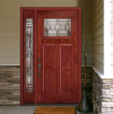 An Example of a beautiful custom prehung fiberglass door