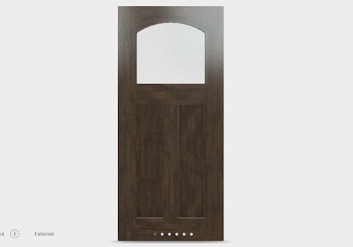 single glass panel door design